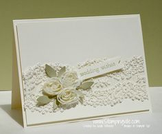 Stampin+Up+Wedding+Card+Ideas | Elegant wedding card with lace #cardmaking #rubberstamping #StampinUp ...