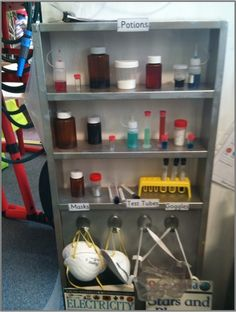 "Look at this great idea for making your own ""Potions Cupboard"""