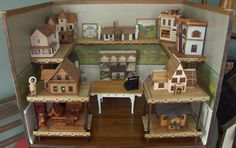 Happy Little Worlds: Remodeling a Gift Miniature Dollhouse Store.