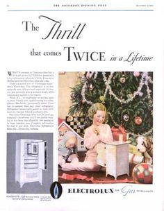 1931 Electrolux refrigerators ad. The Saturday Evening Post.