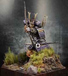 """Samurai Archer"" PEGASO 90mm scale. By Bailey. #Japan  - planet Figure"