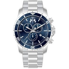 Jivago Men's Ultimate chronograph Watch This classic timepiece by Jivago features a stainless steel case and bracelet. A blue dial, precise quartz movement and a water-resistance level of up to 100 me