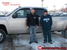 "Dakota Richardson from Saint Joseph, Missouri purchased this 2009 Chevrolet Silverado and wrote, ""5 stars."" To view similar vehicles and  more, go to www.wowwoodys.com today!"