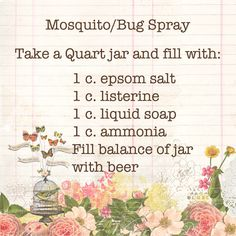 Homemade bug spray that will not kill your plants. Recipe card created with Rhonna Designs    thanks@Nancy Wyatt!