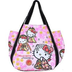 83c7d8e6243f HALLO KITTY x DEARISIMO print bag MIYABI Peach Yasuda trade 4022 Hello  Kitty Bag