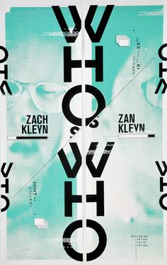 who is who, zach kleyn stunning combination of typography and colour
