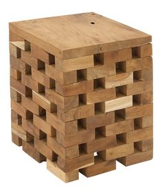 Teak Block Stool #zulily #zulilyfinds
