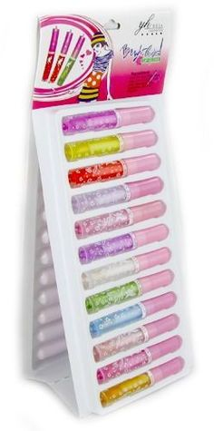 Bright Colors Lip Gloss 24 Pc Counter Display Case Pack 48