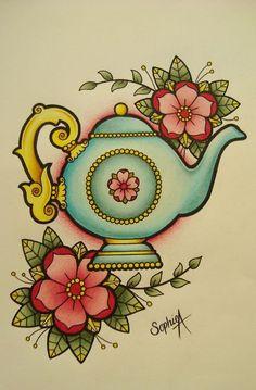 Sophie Adamson. #Tattoos #TattoosFlash #Flash