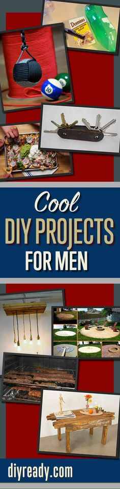 Cool DIY Projects for Men and Do It Yourself Tutorials Ideas Guys Love   DIY Ready http://diyready.com/diy-projects-for-men/