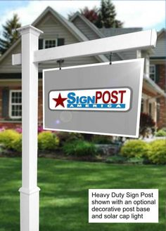 Vinyl PVC Real Estate Sign Post Black Knight Flat Cap