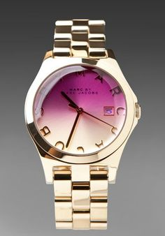 MARC BY MARC JACOBS Henry Color Crystal Watch in Gold at Revolve Clothing - ombre