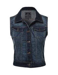 FPT Womens Cropped Denim Vest (S-3XL)