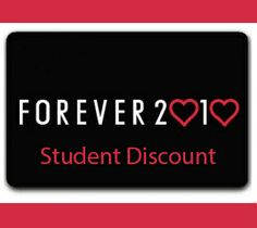 How to get a student discount @ ForeverXXI . BEST PIN EVER