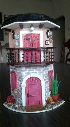 Doll House Crafts, Christmas Villages, Miniature Dolls, T… – Tile Miniature Crafts, Miniature Dolls, Miniature Houses, Fairy Crafts, Diy And Crafts, Monster High Dollhouse, Clay Fairy House, Fairy Houses, Clay Roof Tiles