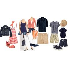 What to Wear for Family Portraits-Spring/Summer Family Portraits, Family Photos, People Photography, What To Wear, Peach, Spring Summer, Wardrobe Ideas, Navy, Clothes For Women