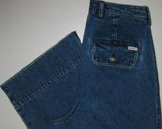 Lauren Jeans Co Denim Capri Cropped Pants Misses Size 8