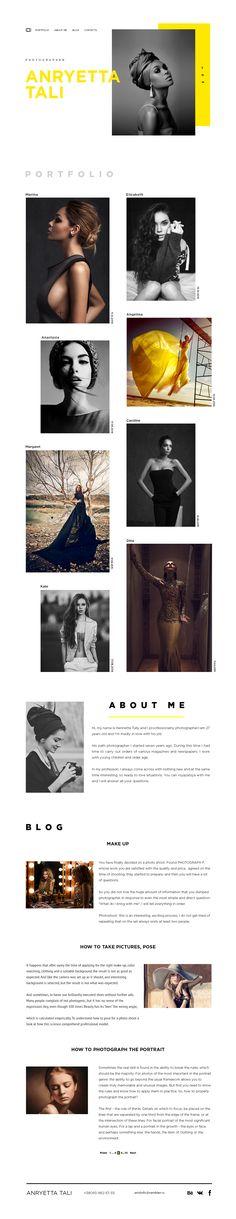 Ознакомьтесь с этим проектом @Behance: «portfolio photographer» https://www.behance.net/gallery/52687439/portfolio-photographer