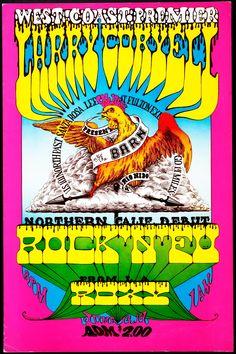 West Coast Premier Larry Coryell Rock 'n' Fu / Roxy June 13-14, 1969 @ The Barn - Rio Nido, California