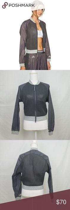 "Adidas by Stella McCartney Barricade Mesh Jacket Crop Tennis Jacket Color: Granite 21"" length, 20"" armpit to armpit 2 zipper pockets Adidas by Stella McCartney Jackets & Coats"