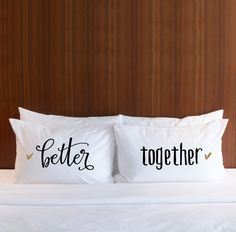 Engagement or Wedding Gift - Pillowcases Wedding Gift for Couples - Better Together Pillowcases Glitter - Gift for Him Her (Item - PBT400)