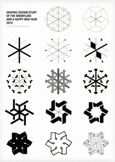 Graphic Design History of the Snowflake