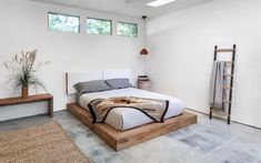 LAXseries Platform Bed with Storage Headboard