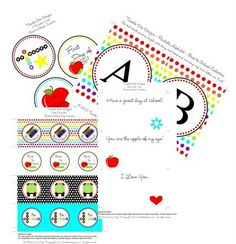 Kinser Event Company: Sweet Treat ~ Back to School FREE Printable Party Collection