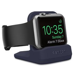 Amazon.com: Spigen S350 Apple Watch Stand with Night Stand Mode for Apple Watch Series 1 / Series 2 / 42mm / 38mm - Black: Cell Phones & Accessories