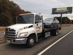 Flat bed tow truck. Wrecker, rollback, hino  , my old tow truck, tri state towing and guenthers towing