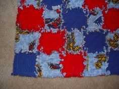 Rag Quilt Tranformers with Red and Blue  Ready to Ship by AuntBugs, $78.50