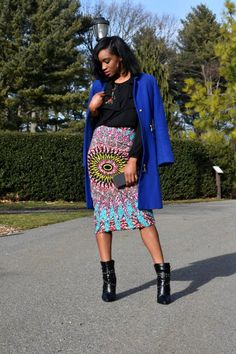 How to style an ankara skirt for work