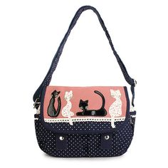 Mulheres Cat bonito bolsa para pequeno Crossbody Bag Meninas Doce Ombro Casual Bag