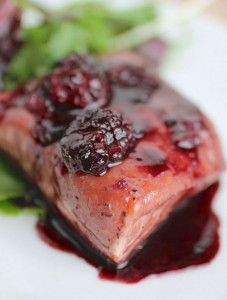 Print 4 servings Servings1234567891011121314151617181920 MetricUS Ingredients 4 5oz. salmon portions 2 Tbsp. extra virgin olive oil salt and pepper to taste 1 clove garlic, minced 1/2 cup fresh blackberries 1/2 cup blackberry jam 2/3 cup hearty red wine (I used a cabernet sauvignon) fresh parsley, for garnish (optional) Directions For Full Recipe Details Go Here:(...)