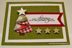 Origami Maniacs: Christmas Tree Card 1