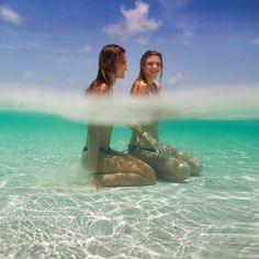 Me and my best friend if we went to some where the water is clear