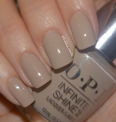 Swatch 'of Maintaining My Sand-ity' from OPI Infinite Shine Gel-Effects Lacquer System. IG@ Rikkis_nails_