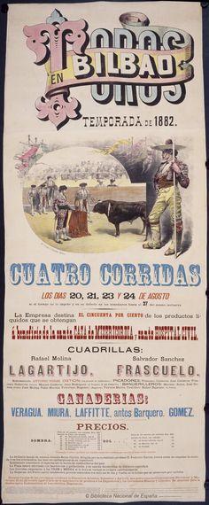 Toros en Bilbao. Plaza de toros antigua de Bilbao — Dibujos, grabados y fotografías — 1882