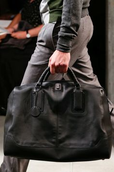 Bottega Veneta SS14 Menswear - Holdall See www.VeryFirstTo.com for more Bottega Veneta