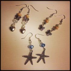 Orecchini pendenti stelle e farfalle