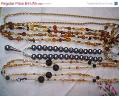 SALE 50% off Bead Necklace Lot vintage necklaces by vintagebyrudi
