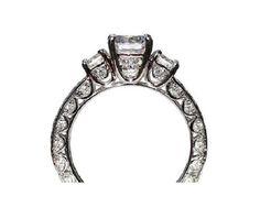VINTAGE style Semi Mount  115 carat Round  by BeautifulPetra, $3,500.00