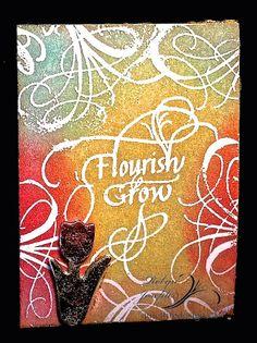 Flourish and Grow tulip ATC