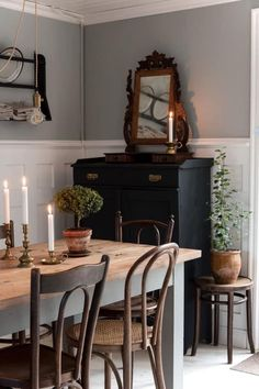 Dining Room Inspiration, Home Decor Inspiration, Decor Ideas, Interior Decorating, Interior Design, Interior Stylist, Cozy House, Kitchen Interior, Home Kitchens