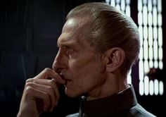 Peter Cushing (as Grand Moff Tarkin in Star Wars -  Episode IV - A New Hope)