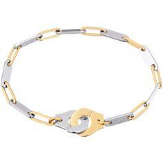 Dinh van Menottes dinh van R12 bracelet yellow gold and steel