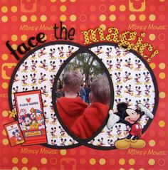 Layout: Face the Magic! ~ with using the Glass Mat with Gridlines...nicely done!