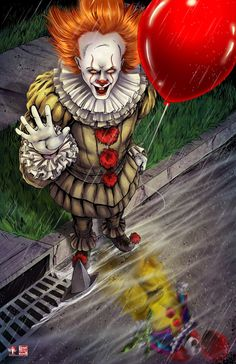 IT - Pennywise the Dancing Clown by Tyrine Carver and Wil Woods of Musetap Studios Clown Horror, Arte Horror, Halloween Horror, Halloween Crafts, Halloween Wreaths, Halloween Cosplay, Halloween Makeup, Halloween Ideas, Halloween Costumes