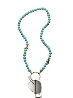 Mustique Mother of Pearl La LOOP - Eyeglass holder Glass Necklace, Beaded Necklace, Necklaces, Eyeglass Holder, Necklace Holder, Leather Jewelry, Eyeglasses, Jewelery, Handmade Jewelry