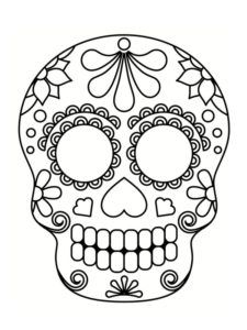 Coloring mexican skull: 20 drawings to print Skull Coloring Pages, Disney Coloring Pages, Colouring Pages, Coloring Books, Day Of The Dead Diy, Day Of The Dead Skull, Sugar Skull Tattoos, Sugar Skull Art, Halloween Rocks